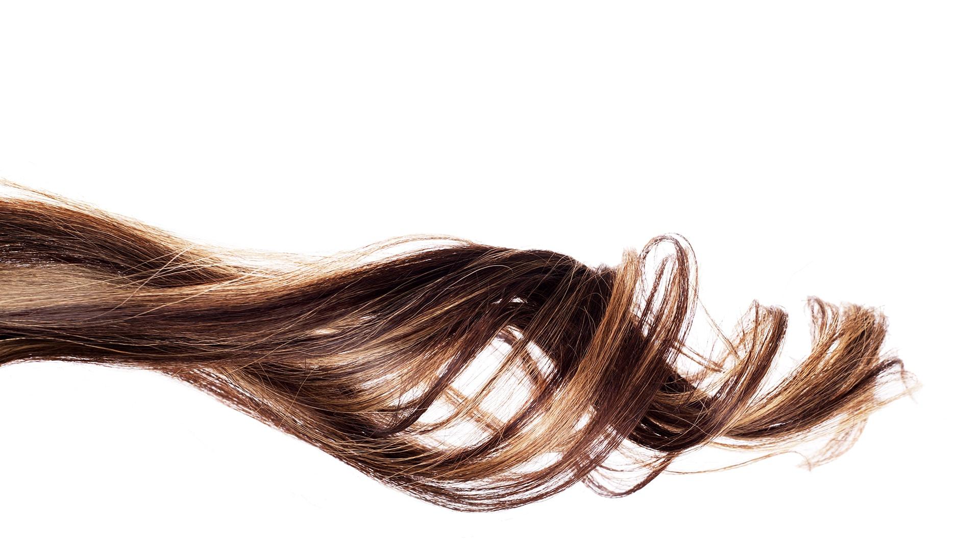 Strands of hair.